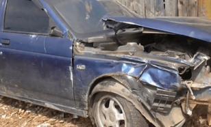 Пьяный мужчина на угнанном автомобиле совершил ДТП