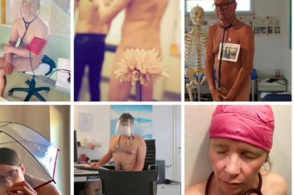 Немецкие врачи позируют голыми в знак протеста против нехватки СИЗ