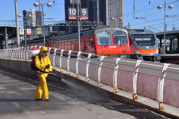 МЧС провело дезинфекцию восьми вокзальных комплексов Москвы