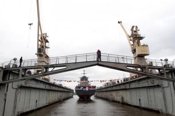 """Корвет """"Ретивый"""" спустили на воду на """"Северной верфи"""" в Петербурге"""