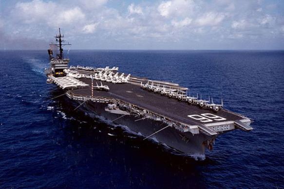 Рассекречена съемка гибели боевого авианосца США