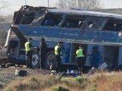 В Китае автобус рухнул в пропасть; 13 погибших
