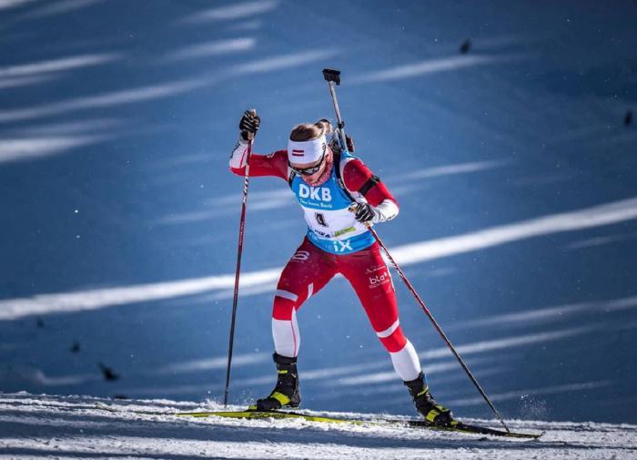Латвийская биатлонистка выиграла гонку на лыжном чемпионате мира