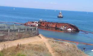 Из-за разлива нефти с затонувшего танкера в Одессе объявлен режим ЧС