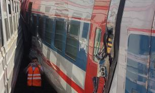 ЧП на Курском вокзале: столкнулись два поезда