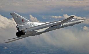 Полет бомбардировщиков Ту-22М3 над Черным морем. ВИДЕО