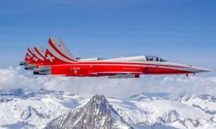 Швейцарская пилотажная группа перепутала место своего выступления