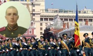 Опубликовано видео инцидента перед парадом в Москве