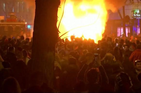 Протесты вспыхнули в Испании после футбольного матча