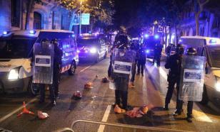 Протестующие в Испании забросали полицию свиными головами