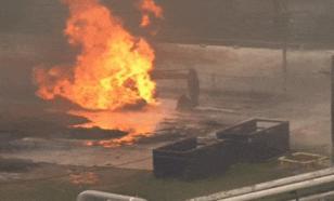 На газовом заводе в Техасе произошёл взрыв