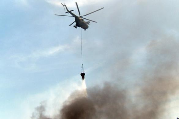 Военные спасли от природного пожара поселок в Ульяновской области
