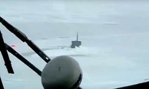 Опубликовано видео застрявшей во льдах Арктики американской подлодки