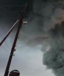 Стали известны подробности пожара на складе под Новосибирском. Видео