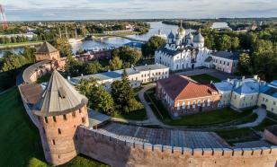 У Нижегородского кремля произошел оползень