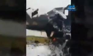 Опубликованы кадры с места крушения самолета в Афганистане