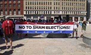 """Протесты в Филадельфии: """"Хиллари - это конец мифа о демократии в США"""""""