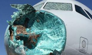 Пилоты  American Airlines посадили самолет с разбитым носом
