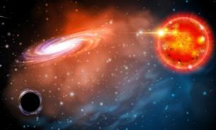 Черная дыра плюется гамма-лучами