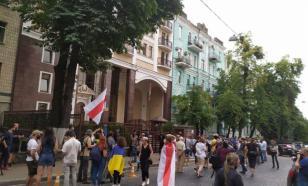 Жители Украины вышли на митинг в поддержку белорусов