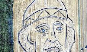 """Итальянский художник """"нарисовал"""" на поле портрет князя Владимира"""