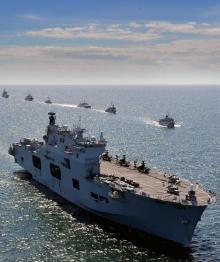 Корабли НАТО вошли в порт польского города Гдыня