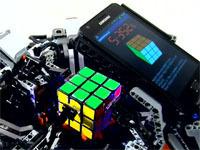 Робот из конструктора Lego собрал кубик Рубика быстрее человека.