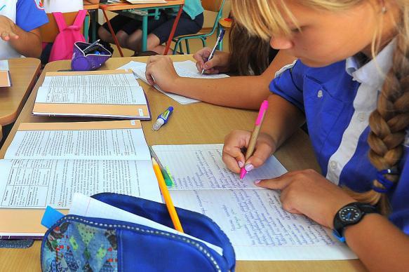 В России задумались о сокращении использования тетрадей в школах