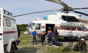 На Камчатке рухнул и затонул вертолёт с туристами