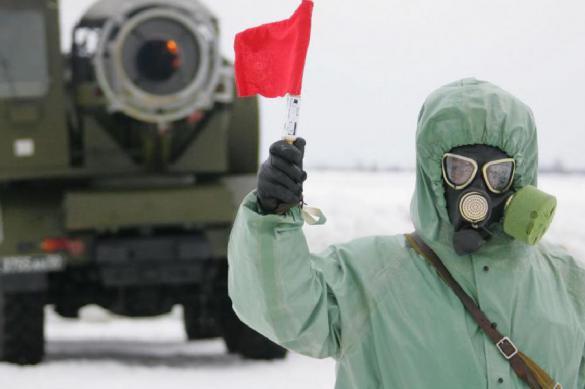 Войска РХБЗ развернули пункты обработки на полигонах