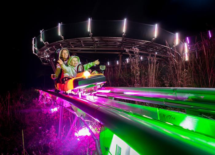 На родельбане в горах Сочи теперь можно кататься и вечером