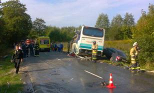 Названа причина ДТП с автобусом в Калининграде