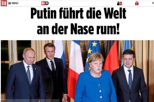 """Немецкий таблоид обвинил Путина в том, что он """"водит мир за нос"""""""