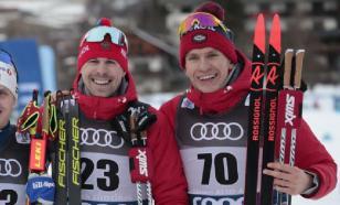 """Российские лыжники заняли весь пьедестал в разделке на """"Тур де Ски"""""""