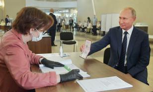 Путин получил подарочный набор после голосования