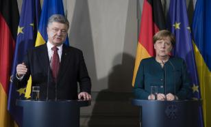 О чем беседуют с Порошенко Меркель и Макрон