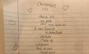 В Сети обсуждают список подарков на Рождество маленькой девочки