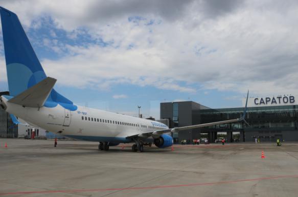 """Новый саратовский аэропорт """"Гагарин"""" принял первый рейс"""