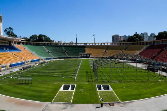 """Стадион """"Маракана"""" переоборудован под больницу для борьбы с COVID-19"""
