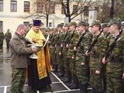 Священники пойдут в воинские части
