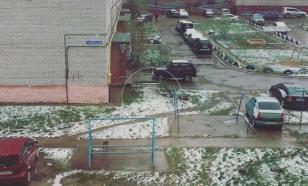 В Москве выпал летний снег