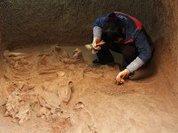 В Китае откопали двадцать гробниц