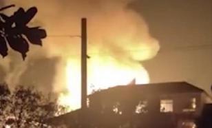 Три взрыва и пожар - в Китае горел химзавод