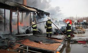 В Калужской области горит газопровод