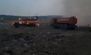 В Ингушетии продолжается тушение пожара на несанкционированной свалке