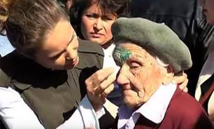 """СМИ """"убили"""" 91-летнюю старушку, облитую зелёнкой в Славянске на 9 мая"""