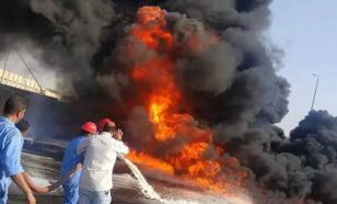 В результате пожара на египетском нефтепроводе пострадали 17 человек