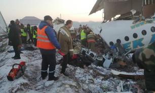 В Казахстане назвали версии крушения самолета в Алма-Ате