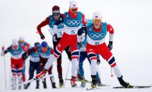 """Большунов сломал палку, но выиграл марафон на """"Ски Туре"""""""