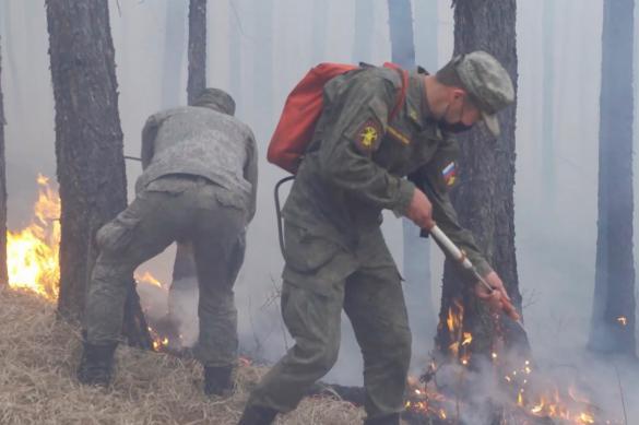 Военные завершили тушение природных пожаров в Туве